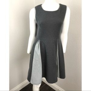 KLING Dress Blue Gray A-Line Flare Sleeveless Med